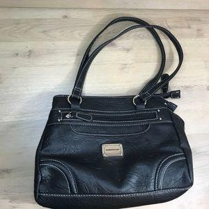 Stone Mountain black leather multi bag